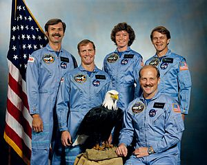 Joseph P. Allen - Allen (standing at right) with the crew of STS-51-A.