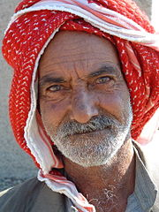 An elderly Iraqi man