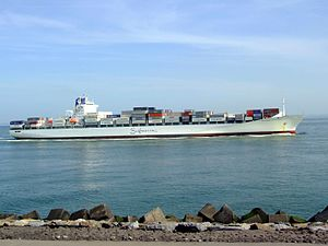 Safmarine Nokwanda p14 approaching Port of Rotterdam, Holland 20-May-2007.jpg