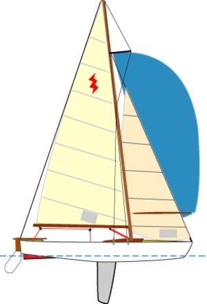 Lightning (dinghy) - Image: Sailingboat lightningclass