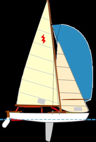 Lightning (dinghy) - Image: Sailingboat lightningclass