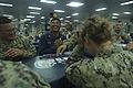 Sailors relax aboard USS Boxer. (9093253663).jpg