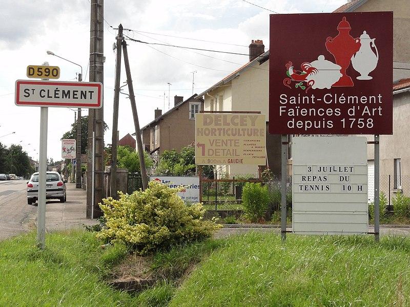 Saint-Clément (M-et-M) city limit sign