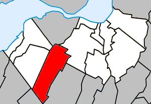 Saint-Isidore, Montérégie, Quebec - Image: Saint Isidore (Roussillon) Quebec location diagram