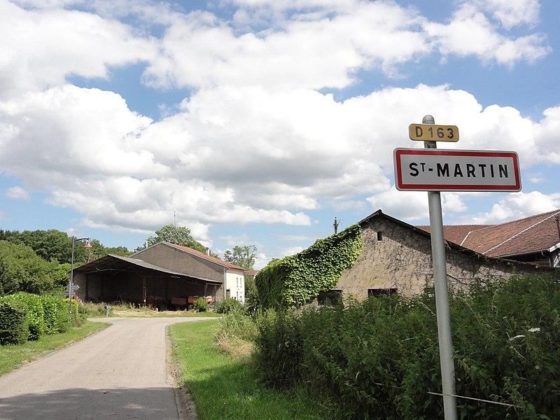 Saint-Martin (M-et-M) city limit sign