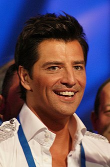 Rouvas at the Eurovision Song Contest 2009 in Moscow, Russia.