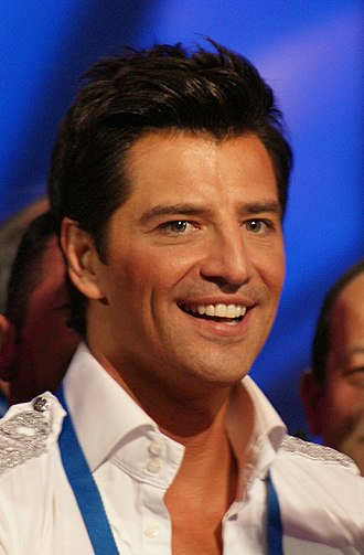Sakis Rouvas - Rouvas at the Eurovision Song Contest 2009 in Moscow, Russia.