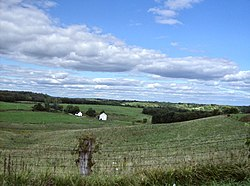 Salem Township is a hilly area of fields and woods