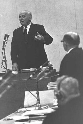 Salo Wittmayer Baron - Prof. Baron testifying at Adolf Eichmann's trial