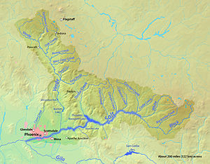 Salt River Valley - Image: Salt River Map