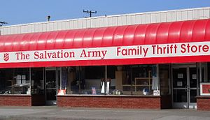 Second-hand shop - The Salvation Army Thrift Store in Santa Monica, California
