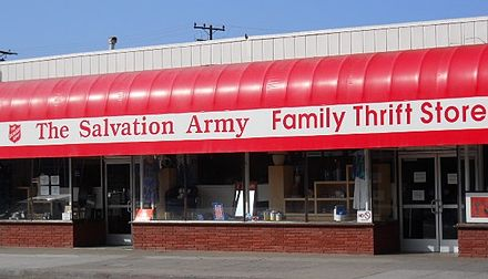 The Salvation Army Family Thrift Store, Santa Monica, CA Salvation Army Thrift Store, Santa Monica, CA.JPG