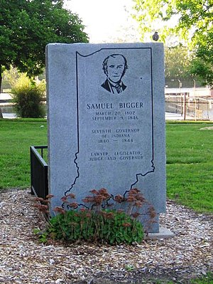 Samuel Bigger - Governor Samuel Bigger's gravesite.