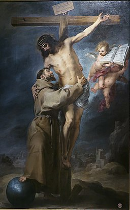 San Francisco abrazando a Cristo, Bartolomé Esteban Murillo