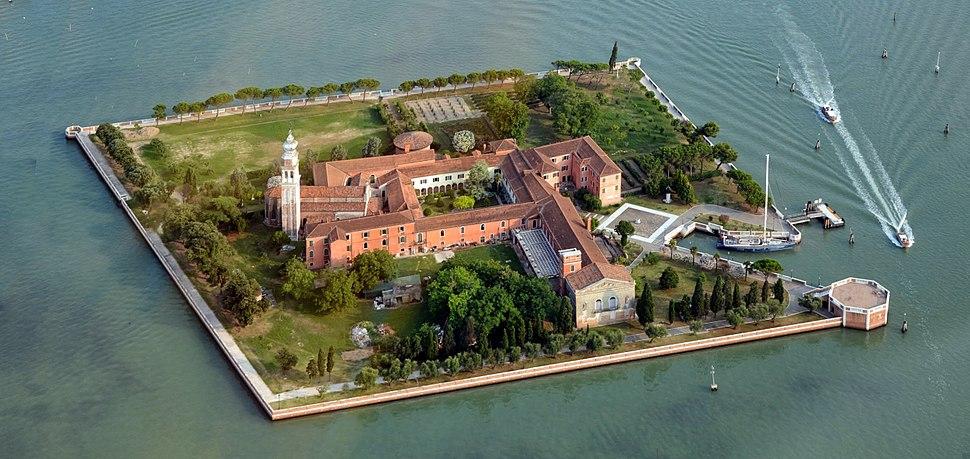 San Lazzaro degli Armeni, Venice aerial photo 2013