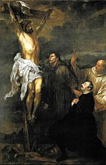 Crucified Christ Adored by Francesco Orero, Saints Francis and Bernard