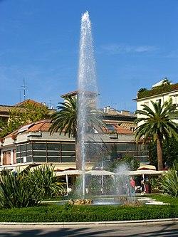 San Benedetto del Tronto seafront - fountain in Giorgini Square
