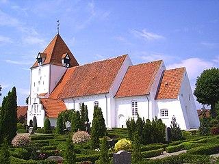 Sandby Town in Zealand, Denmark