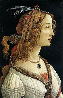 Portrait de Simonetta Vespucci par Sandro Botticelli, Institut Städel (Francfort sur le Main)