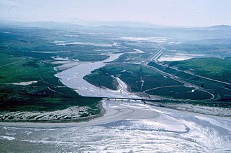 Santa Ynez River - Aerial view of the mouth of the river