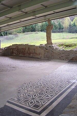 Sanctuary of Minerva - The sanctuary and the statue of Minerva.