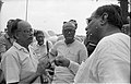 Saroj Ghose And Prasanta Chatterjee Discussing About Science City Project - Meeting Between CMC And NCSM Officers - Science City Site - Dhapa - Calcutta 1993-04-22 0593.JPG
