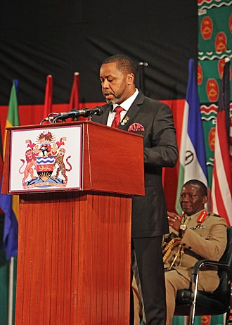 Saulos Chilima - Image: Saulos Klaus Chilima, vice president of Malawi speaks during the African Land Forces Summit 2017