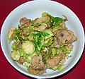 Sautéed Brussels Sprouts & Pork (11015646274).jpg