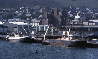 Scalloway - Image: Scalloway harbour geograph.org.uk 346623