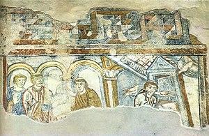 St. Benedikt (Mals) - Image: Scenes of saints' lives