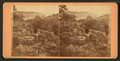 Scenic view of the bluffs with a lonely sightseer, by Root, Samuel, 1819-1889.png