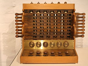 Wilhelm Schickard - Replica of Schickards calculating machine