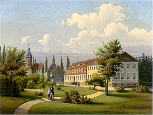Solms-Baruth - Castle Baruth in the 19th century, seat of the Solms-Baruth family
