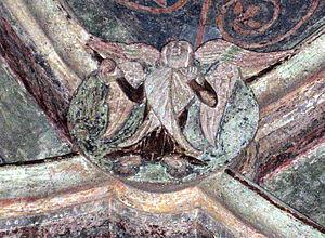 Göss Abbey - Schlussstein mit Abbild eines Seraphs