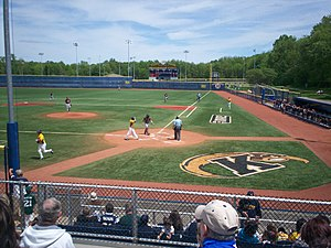 Kent State Golden Flashes - Kent State baseball game at Olga Mural Field at Schoonover Stadium in 2010