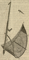 Scythe with cloth gatherer, a cradle type made before 1802.png