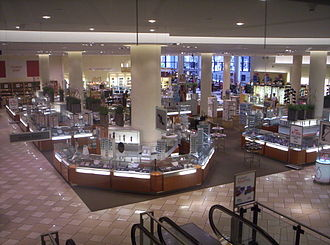 Sears Canada - Interior of the Eatons Pacific Centre store, a former T. Eaton Co. (Eaton's) location