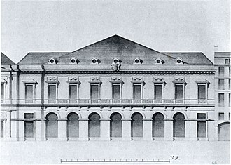 Pierre-Louis Moreau-Desproux - Image: Seconde Salle du Palais Royal elevation c 1770 CC Mead 1991 p 45