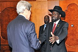 Secretary Kerry Meets With South Sudan President Kiir
