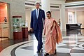 Secretary Kerry Walks With Indian Minister of External Affairs Shushma Swaraj After he Arrived to Jawarhalal Nehru Bhawan in New Delhi - Flickr - U.S. Department of State.jpg