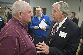 Mike Parson - Parson with Sonny Perdue in 2017