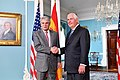 Secretary Tillerson and Spanish Foreign Minister Dastis Pose for a Photo Before Their Meeting in Washington (34802461333).jpg