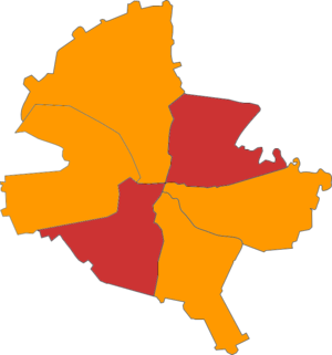 Romanian local elections, 2004 - Image: Sectors by mayor party