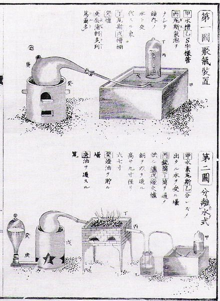 The work of Lavoisier was translated in Japan in the 1840s, through the process of Rangaku. Page from Udagawa Yoan's 1840 Seimi Kaiso SeimiKaisouChemistry.jpg