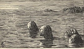 During the Christianisation of Norway, king Olaf had male völvas (shamans) tied and left on a skerry at ebb. This was a long and terrible wait for death.