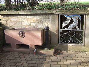Selz - The Selz spring with attached Kneipp hydrotherapy basin in February 2007