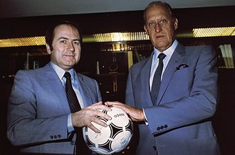 Sepp Blatter - Blatter (left) with João Havelange, President of FIFA (April 1982).