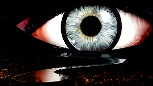 Witness: The Tour - The stage for the tour with the eye-related imagery