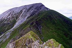 none  Sgurr a' Mhàim with its quartzite cap seen from the Devil's Ridge