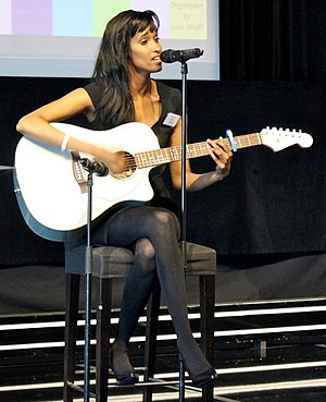 Somali diaspora - Somali singer-songwriter Sherissa performing at the 2013 Nordic Somali Youth Summit in Stockholm.